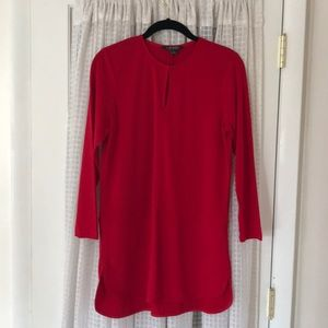 Lauren red tunic blouse